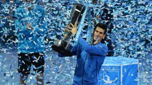 Novak Djokovic après sa victoire aux Masters de Londres, le 22 novembre 2015.