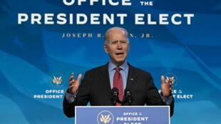 Discours du président élu Joe Biden au Queen Theatre à Wilmington, le 8 janvier 2021