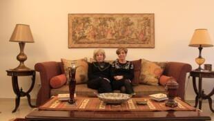 Hoda Sayegh et sa fille, Zeina. Les deux femmes s'avouent complices et complémentaires.