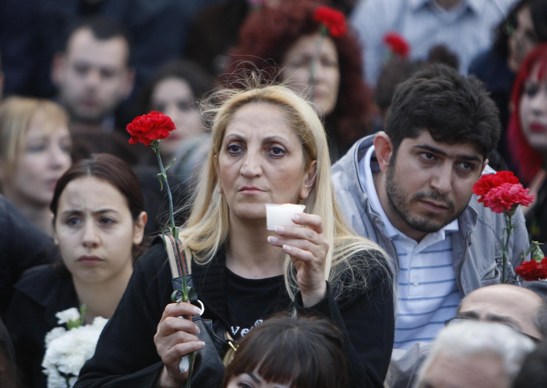 土耳其伊斯坦布尔纪念亚美尼亚大屠杀的活动2010年4月24日