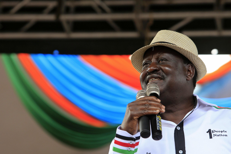 Raila Odinga, Waziri Mkuu wa Kenya, na Kiongozi mkuu wa upinzaniJulai 7, 2014 Nairobi.