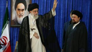 Le guide suprême iranien, l'ayatollah Khamenei, le 4 juin 2017 à Téhéran.