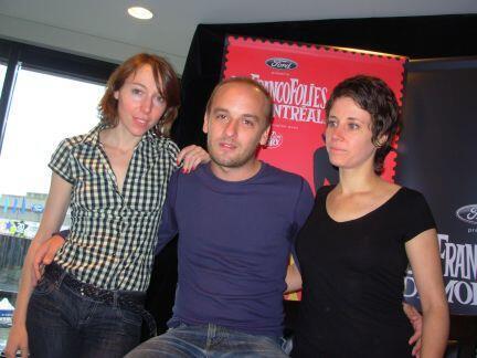 Жанна Шераль (слева) с певцами Шарлем Сушоном и Катель