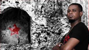 Cheikh MC sur la pochette de son dernier album, «Révolution».