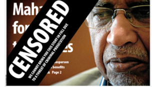 Mail & Guardian's front page
