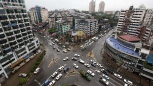 Une vue du centre de Rangoon.