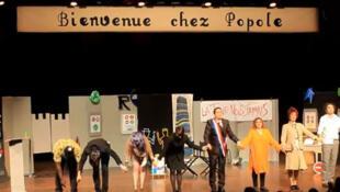 Les acteurs de la pièce de théâtre «Bienvenue chez Popole».