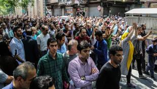 تظاهرات اخیر در بازار تهران