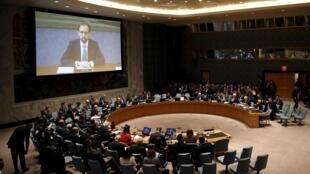 Hội đồng Bảo an Lien hiệp quốc tại New York họp về khủng hoảng Trung Đông, từ ngày 27/3/2015.