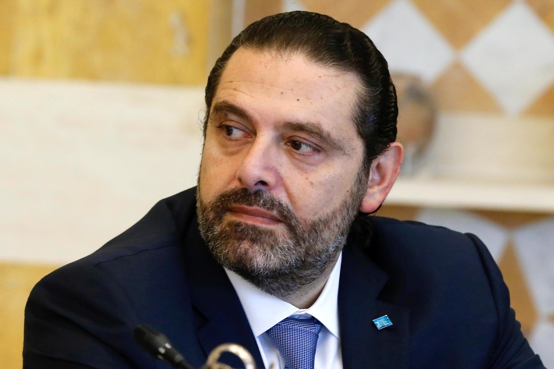 سعد حریری، نخست وزیر لبنان هنگام اعلام کناره گیری خود از قدرت – ٢٩ اکتبر ٢٠١٩