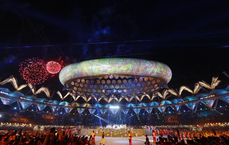 2010年在印度新德里举行英联邦运动会开幕式