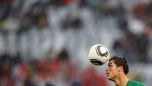 Cristiano Ronaldo autor de un Hat-Trick en el empate de Portugal ante Espana durante el mundial de Rusia el 15 de Junio de 2018.