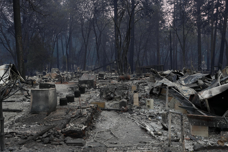 Vista general de las casas de Paradise, destruidas tras los incendios en California.