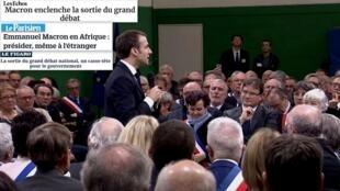 A imprensa francesesa desta segunda-feira (11) comenta o fim dos grandes debates nacionais, promovidos pelo presidente Emmanuel Macron.