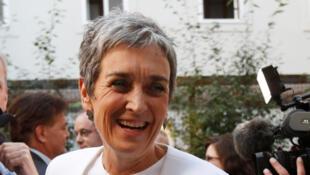 La candidate des Verts, Urik Lunacek, lors du lancement de la campagne officielle de son parti, le 4 septembre 2017. L'ex-eurodéputée est la tête de liste des écologistes.
