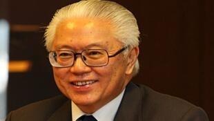 图为新加坡现任总统陈庆炎