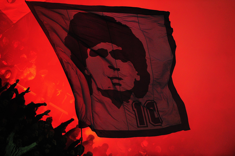 Diego Maradona, ídolo na cidade de Nápoles.