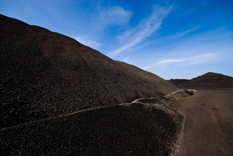 Du minerai de manganèse.