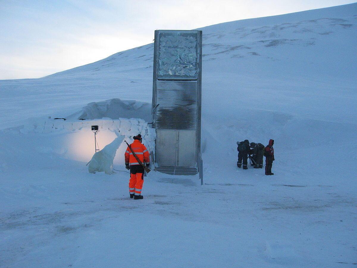 Ngân hàng giống cây hoang dã Svalbard Global Seed Vault, đảo Svalbard (Bắc Cực), Na Uy.