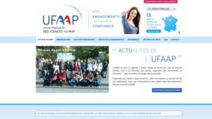 Site de l'Ufaap, l'Union française des agences au pair.