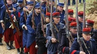 A reenactment of First Battle of the Marne at Chauconin-Neufmontiers on 6  September