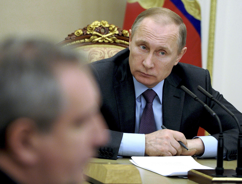 ប្រធានាធិបតីរុស្ស៊ី លោក  Vladimir Poutine