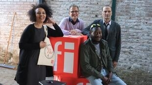 Fatima Soualhia-Manet, François Rancillac, Claude Guyonnet et Ibrahima Bah. Zone franc(h)e d'Edouard Elvis Bvouma. Ça va, ça va le monde !
