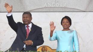 Presidente de Angola, João Lourenço, acompanhado pela mulher Ana Dias Lourenço