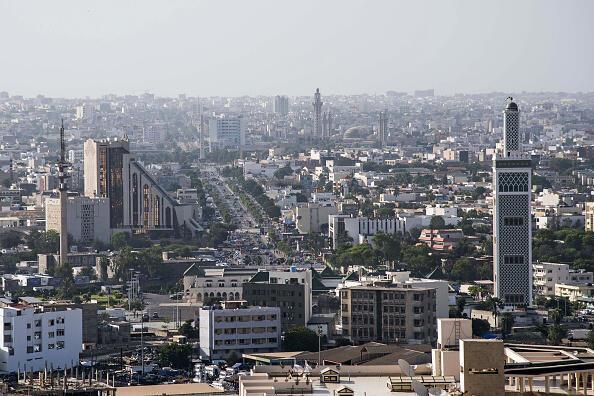 Vue sur Dakar.