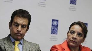 Xiomara Castro, esposa del ex presidente Manuel Zelaya y candidata a la presidencia de Honduras.