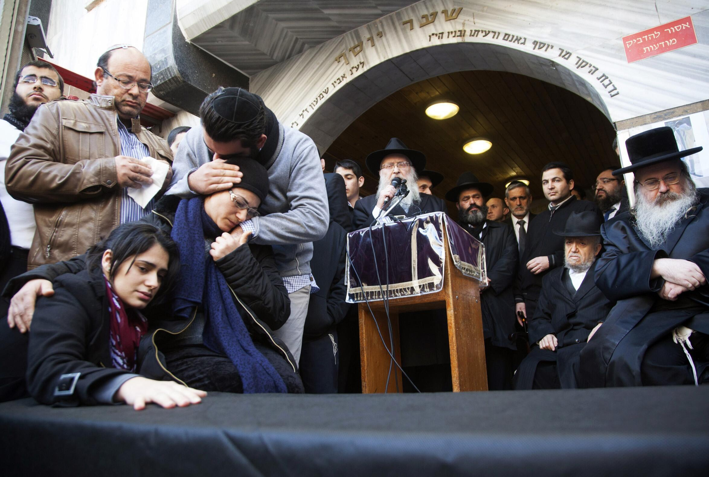 The funeral of the Hyper Cacher siege victims in Jerusalem