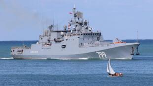 Đô đốc Makarov, hộ tống hạm Nga trang bị tên lửa dẫn đường tại vịnh Sevastopol, Nga, ngày 05/10/2018