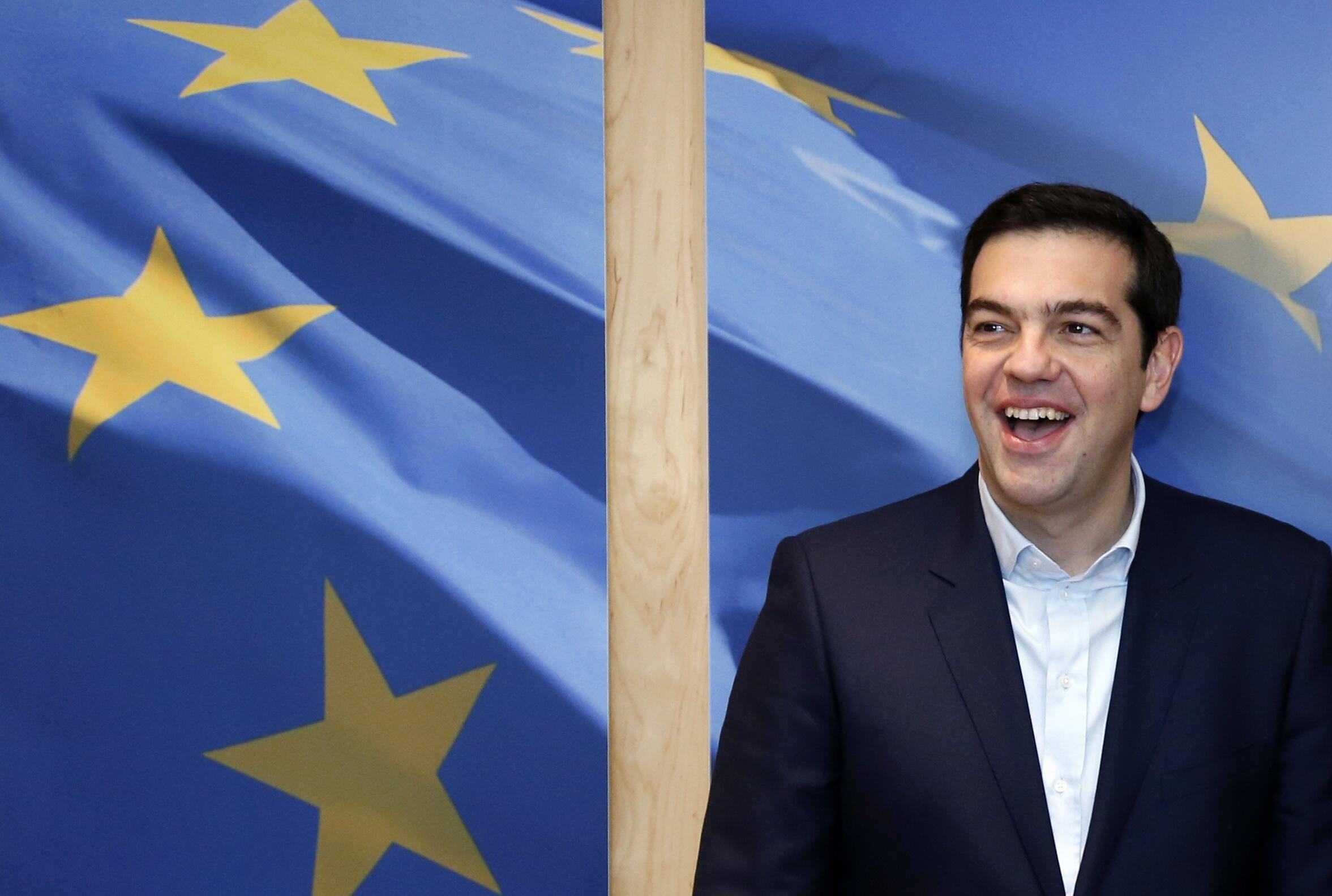 O premiê grego de extrema-esquerda, Alexis Tsipras, visitou hoje a sede da Comissão Europeia, em Bruxelas, para discutir o futuro econômico da Grécia na zona do euro.