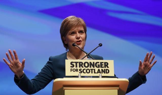 La dirigeante écossaise Nicola Sturgeon à l'ouverture du congrès de son parti SNP à Glasgow, jeudi 13 octobre 2016.