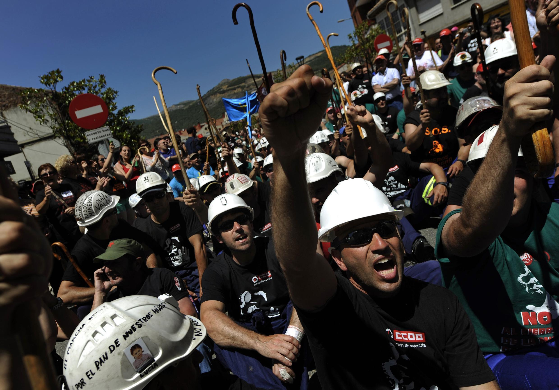 Les mineurs espagnols lors de la «marche noire».