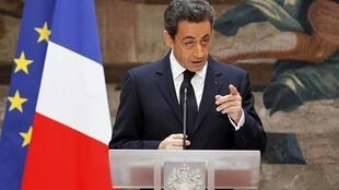 Tổng thống Pháp Nicolas Sarkozy, tại điện Elysée, Paris, ngày 13/01/2012