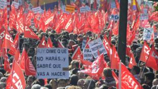 CCOO hizo un llamamiento a participar en la Jornada de Acción que se celebra simultáneamente en toda Europa.