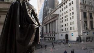 El New York Stock Exchange (NYSE) en Wall Streeet (New York) el 23 de marzo de 2021