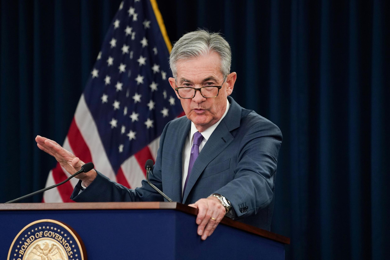 Lãnh đạo Cục dự trữ liên bang FED Jerome Powell tại buổi họp báo ngày 31/07/2019, Washington.
