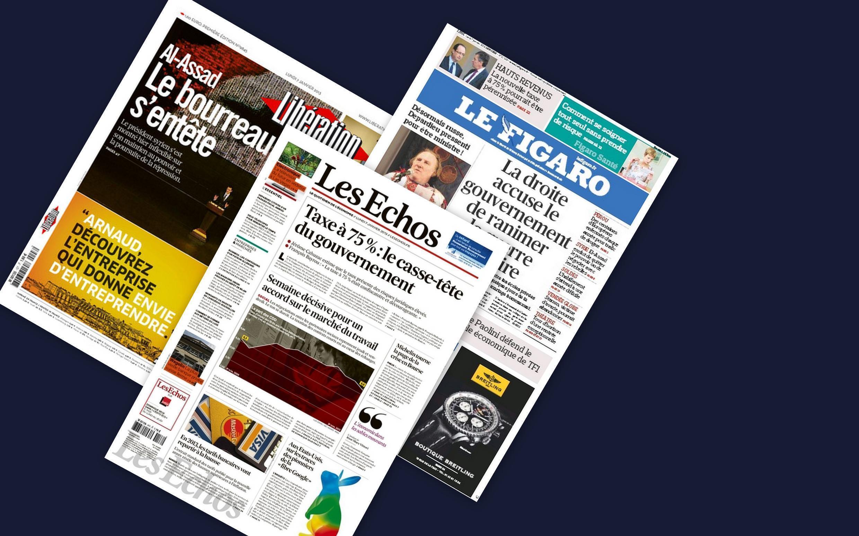 Capa dos jornais franceses desta segunda-feira, (07).