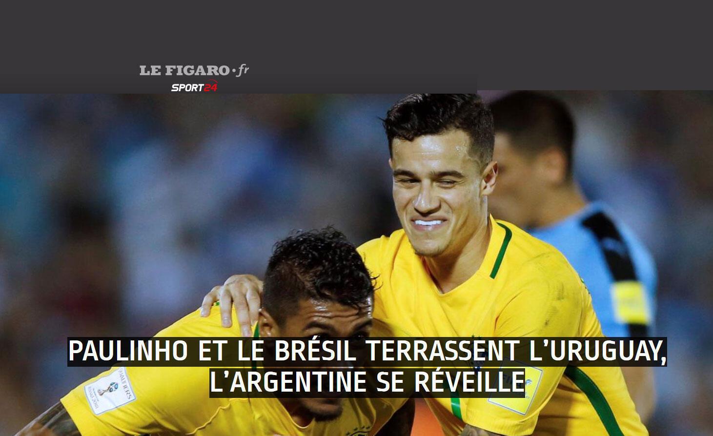 """""""Um Brasil magnífico e eficaz no ataque"""", exalta o Le Figaro"""