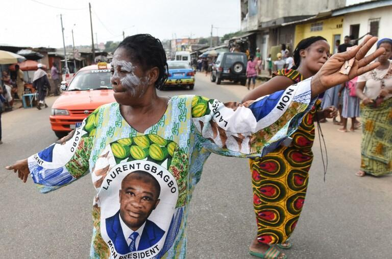 Laurent Gbagbo's supporters celebrate his acquittal, 15 January 2019
