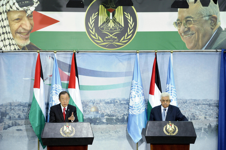 """O presidente da Autoridade Palestina, Mahmoud Abbas, busca através do status de """"Estado observador"""" um reconhecimento histórico nas Nações Unidas."""