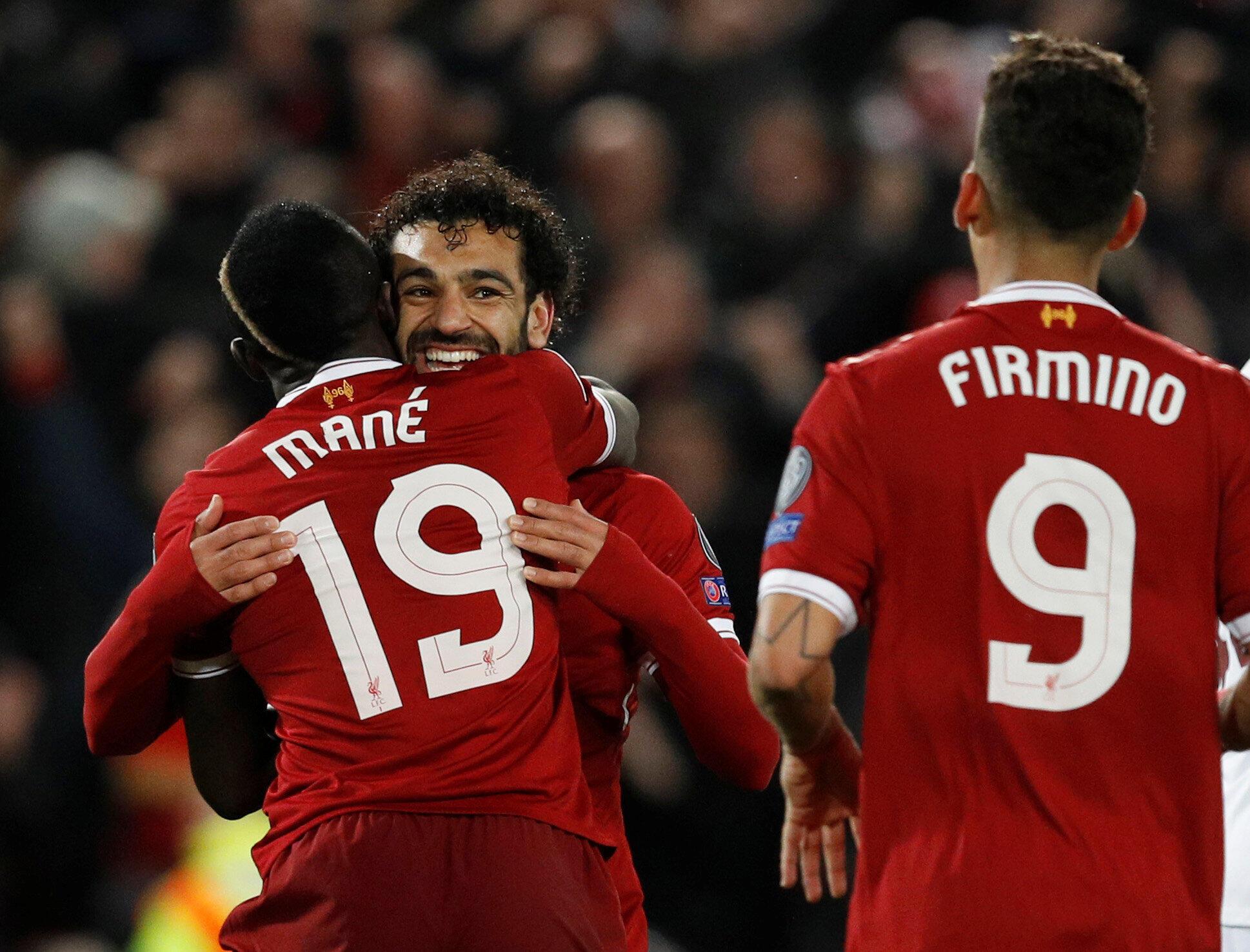 Le trio de Liverpool Sadio Mané, Roberto Firmino et Mohamed Salah empile les buts en Ligue des champions.