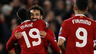 Le trio de Liverpool Sadio Mané, Roberto Firmino et Mohamed Salah.