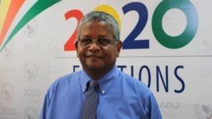 Wavel Ramkalawan, 5e président des Seychelles, le 25 octobre 2020, après son élection confirmée dès le premier tour.