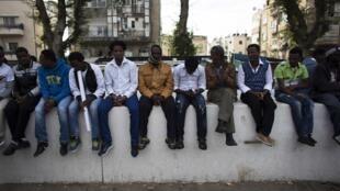 Un rassemblement d'immigrés africains à Tel Aviv, le 7 janvier 2014.