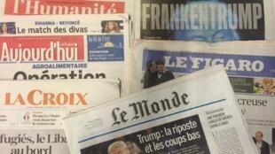 Capas dos diários franceses 10/10/2016