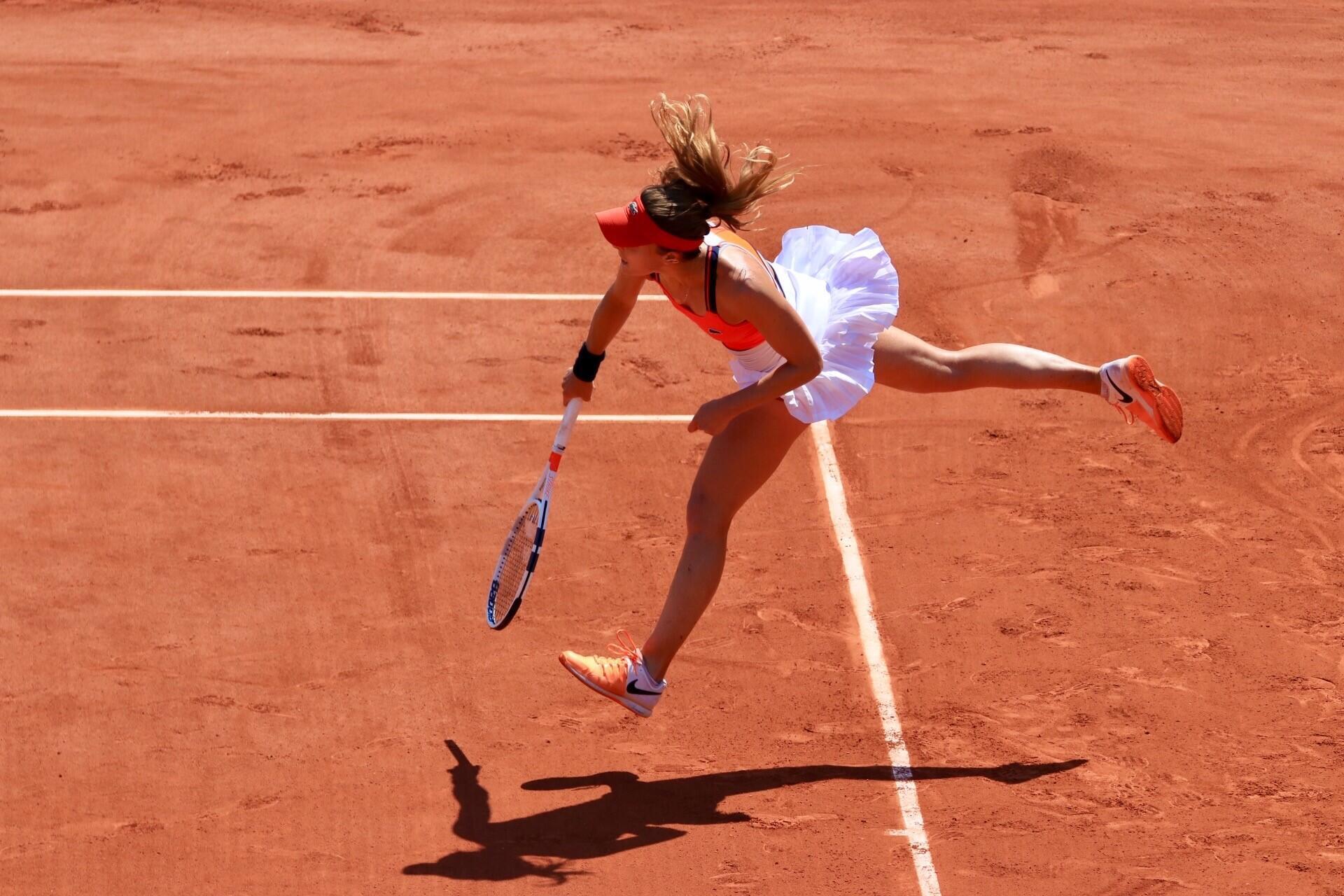Alizé Cornet en el Roland Garros, junio 2017