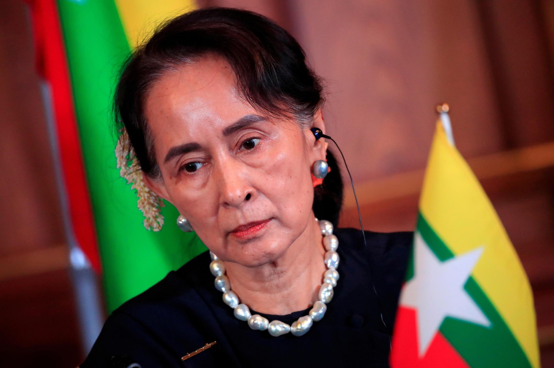 Ảnh tư liệu : Bà Aung San Suu Kyi, năm 2018.